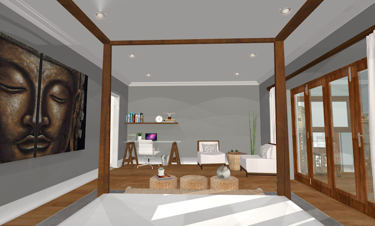HOUSE M Mediterranean style bedroom by Kirsty Badenhorst Interiors Mediterranean