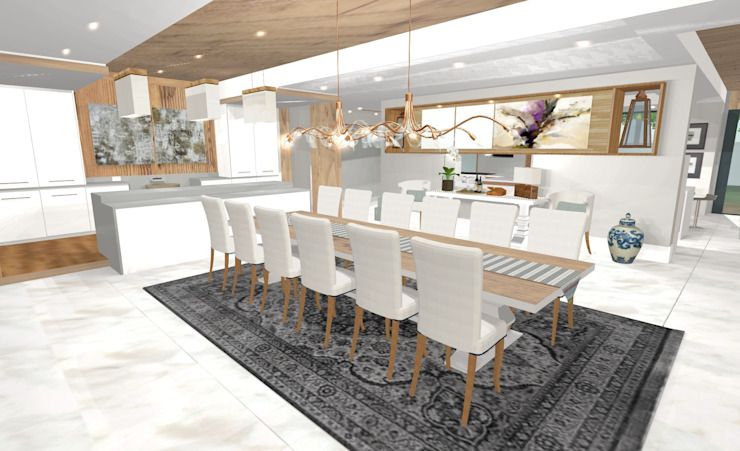 House N:  Dining room by Kirsty Badenhorst Interiors, Modern