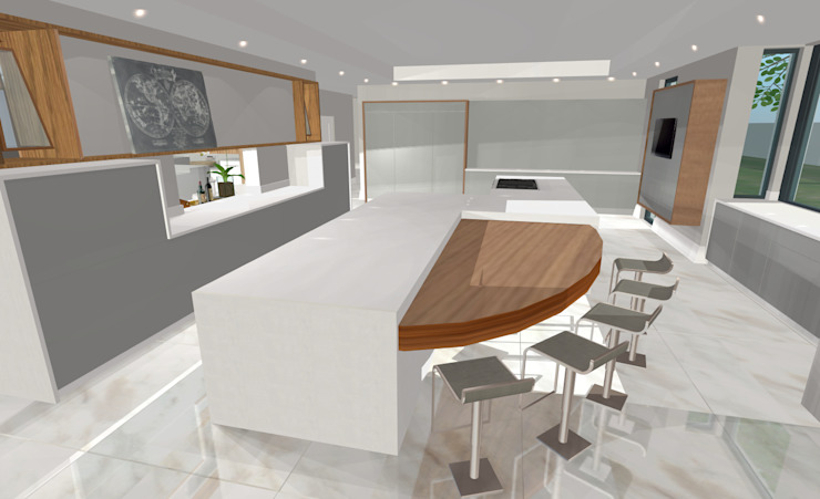House N:  Kitchen by Kirsty Badenhorst Interiors, Modern