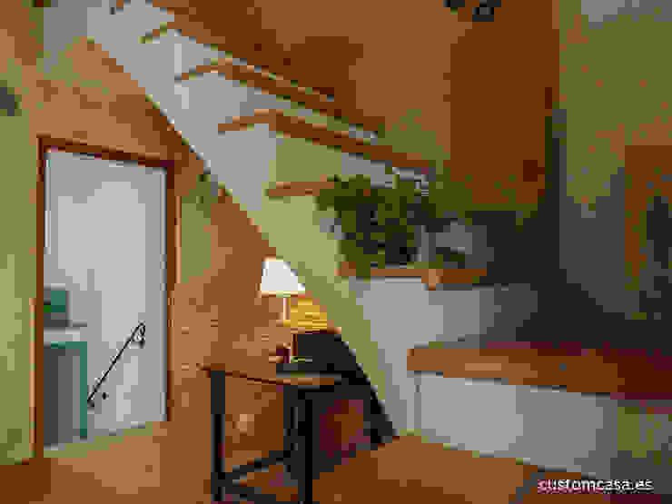 Koridor & Tangga Gaya Mediteran Oleh custom casa home staging Mediteran