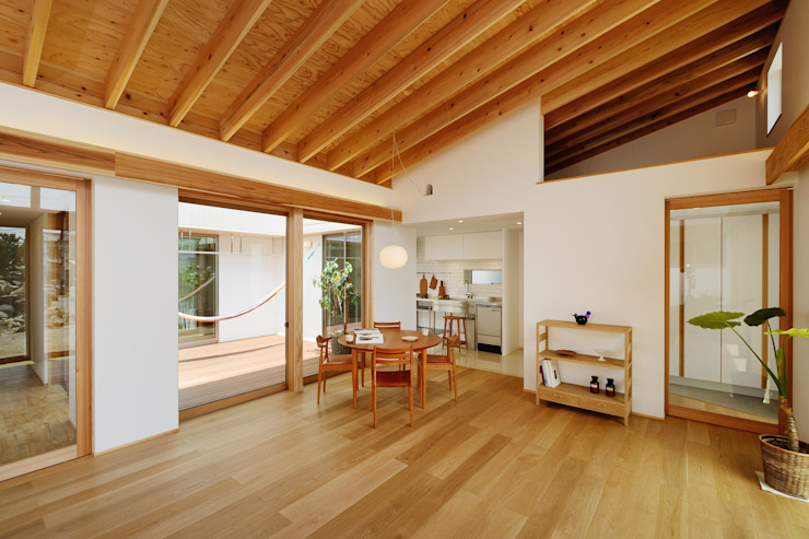 Moderne Esszimmer von スタジオグラッペリ 1級建築士事務所 / studio grappelli architecture office Modern