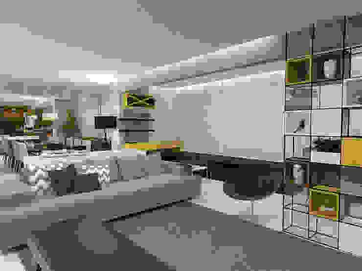 Гостиная в стиле модерн от Impelizieri Arquitetura Модерн