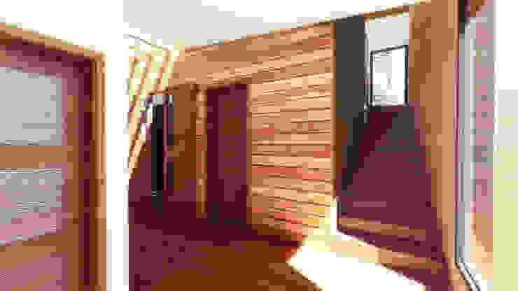 Área Escalera Pasillos, vestíbulos y escaleras modernos de GerSS Arquitectos Moderno