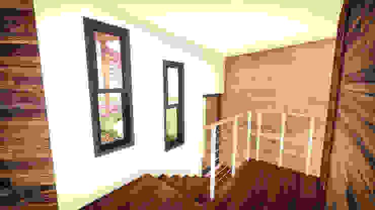 Área Escalera Paredes y pisos modernos de GerSS Arquitectos Moderno