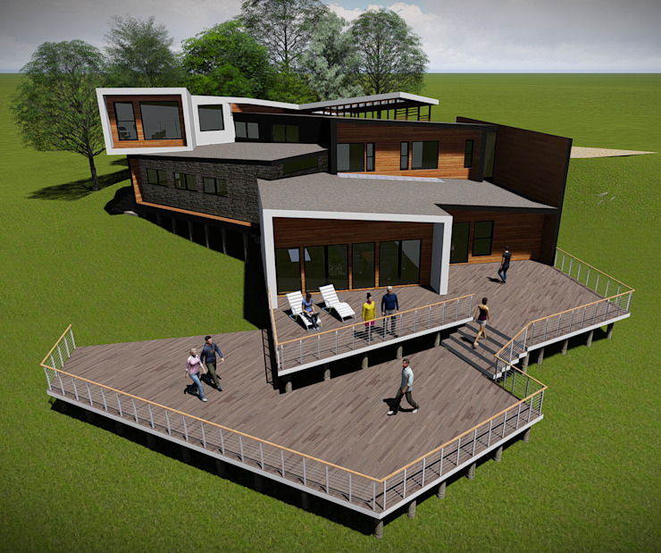 Vista Aérea Casas estilo moderno: ideas, arquitectura e imágenes de GerSS Arquitectos Moderno
