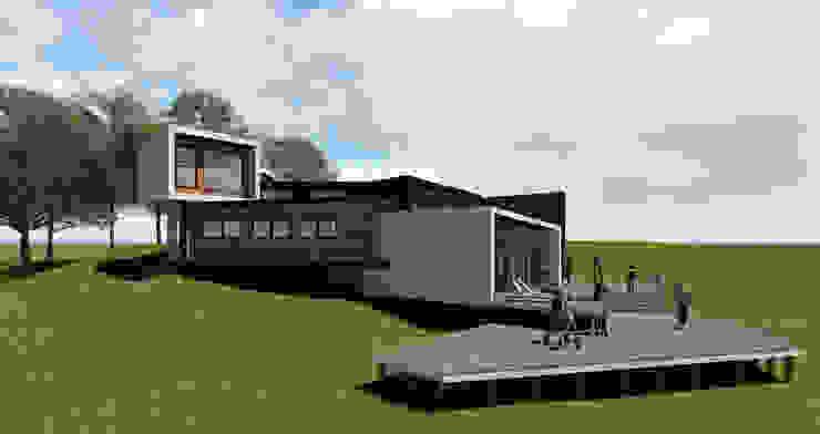 Fachada lateral Izquierda Casas estilo moderno: ideas, arquitectura e imágenes de GerSS Arquitectos Moderno