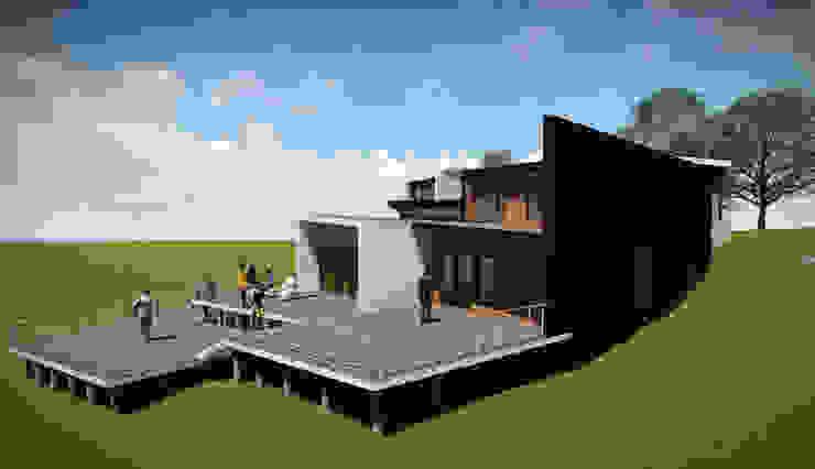 Fachada Lateral Derecha Casas estilo moderno: ideas, arquitectura e imágenes de GerSS Arquitectos Moderno