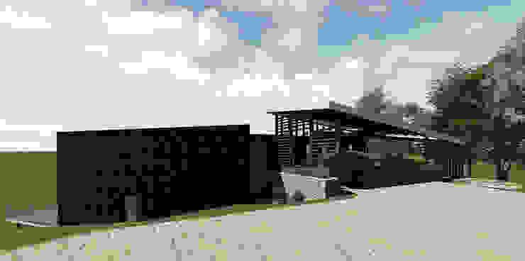 Vista Estacionamiento Casas estilo moderno: ideas, arquitectura e imágenes de GerSS Arquitectos Moderno