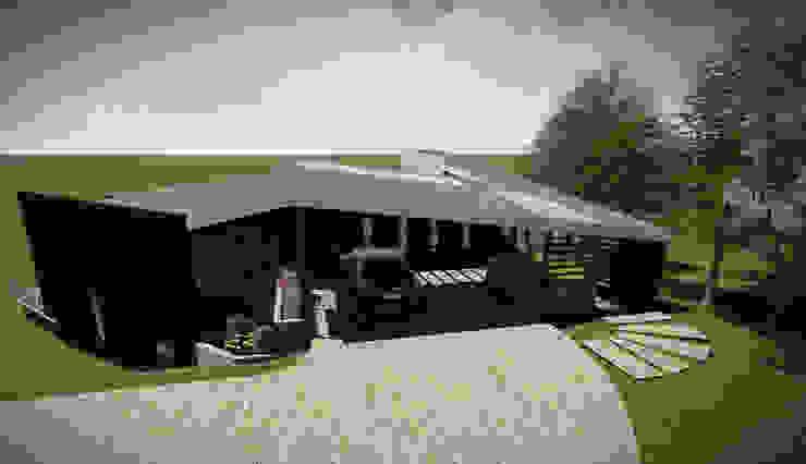 Vista Acceso Casas estilo moderno: ideas, arquitectura e imágenes de GerSS Arquitectos Moderno
