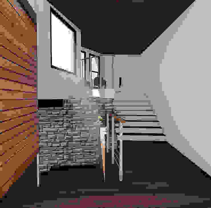 Acceso Pasillos, vestíbulos y escaleras modernos de GerSS Arquitectos Moderno