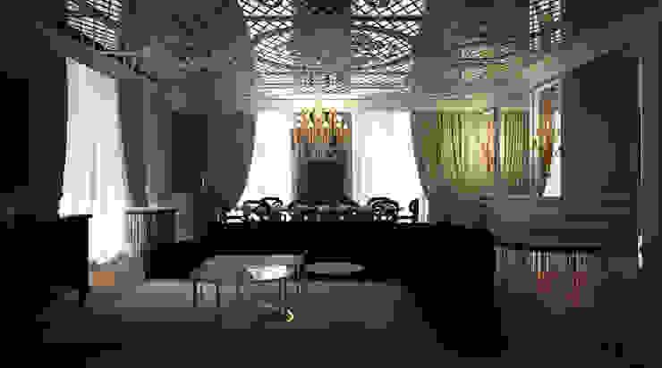غرفة المعيشة تنفيذ Oda Tasarım İçmimarlık