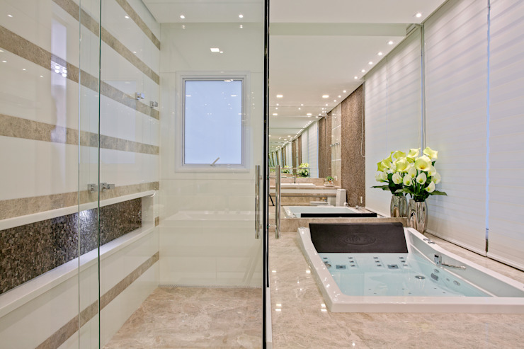 浴室 by Designer de Interiores e Paisagista Iara Kílaris, 現代風 大理石