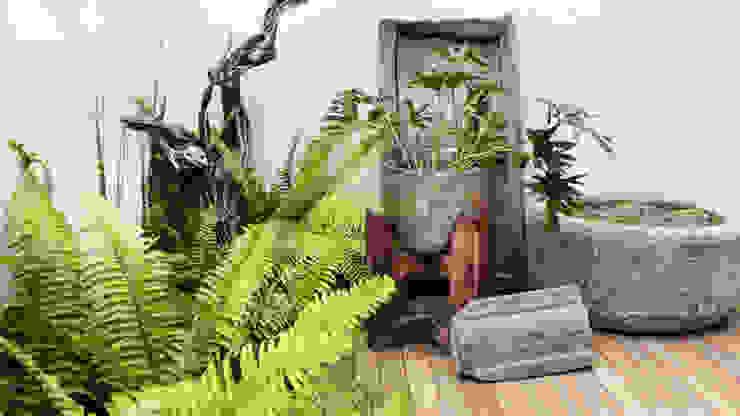 Jardins mediterrâneos por gpinteriorismo Mediterrâneo Madeira Efeito de madeira