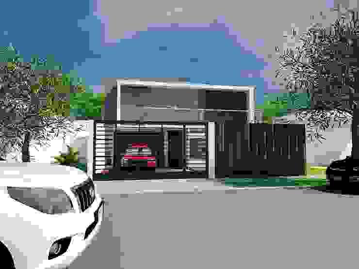 Minimalist house by Arq Hernando Fuentes Diseños Minimalist Concrete