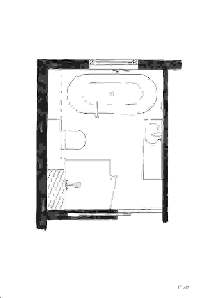 Badkamer onder een schuin dak: modern  door JO&CO interieur, Modern
