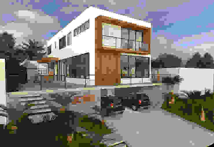 Fachada Lateral: Casas  por Impelizieri Arquitetura,Moderno