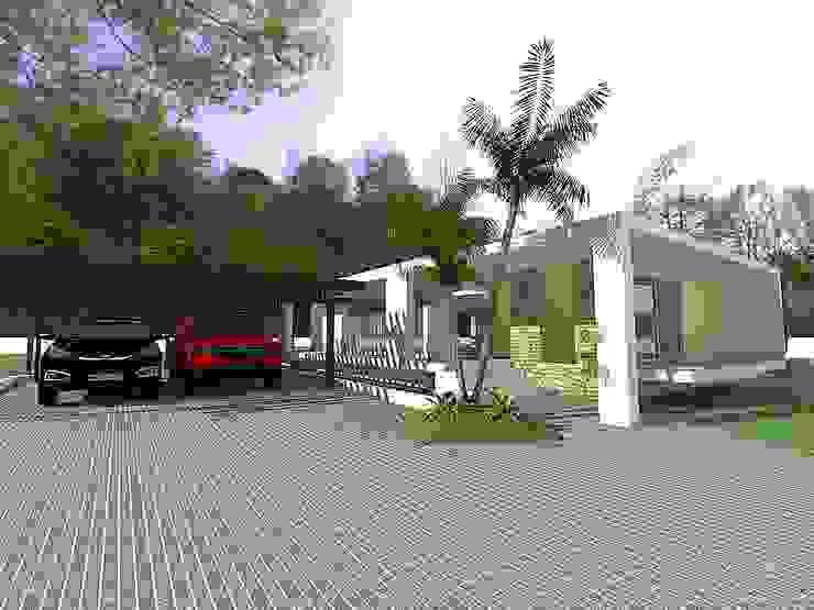 Casas minimalistas por Arq Hernando Fuentes Diseños Minimalista Betão