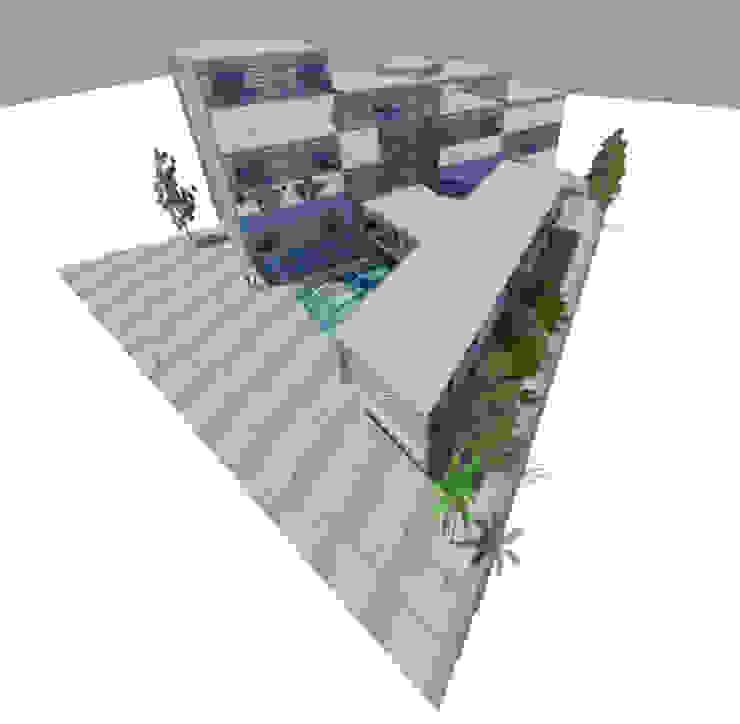 3 Edificios de oficinas de estilo minimalista de ARQUITECTURA VANGUARDIA Minimalista