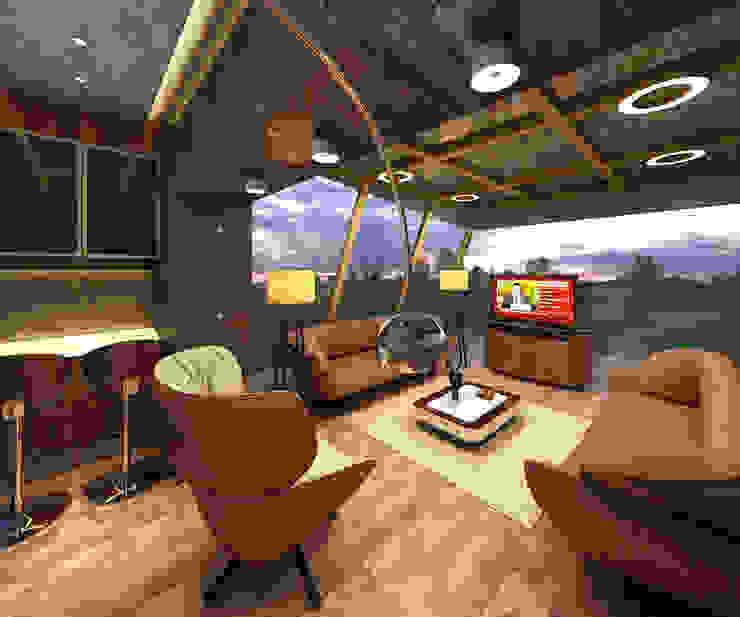 Sky Lounge Mah-Dee group Modern media room