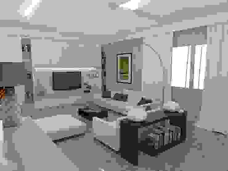 Salas modernas de Arch. STEFANELLI Gabriella Moderno