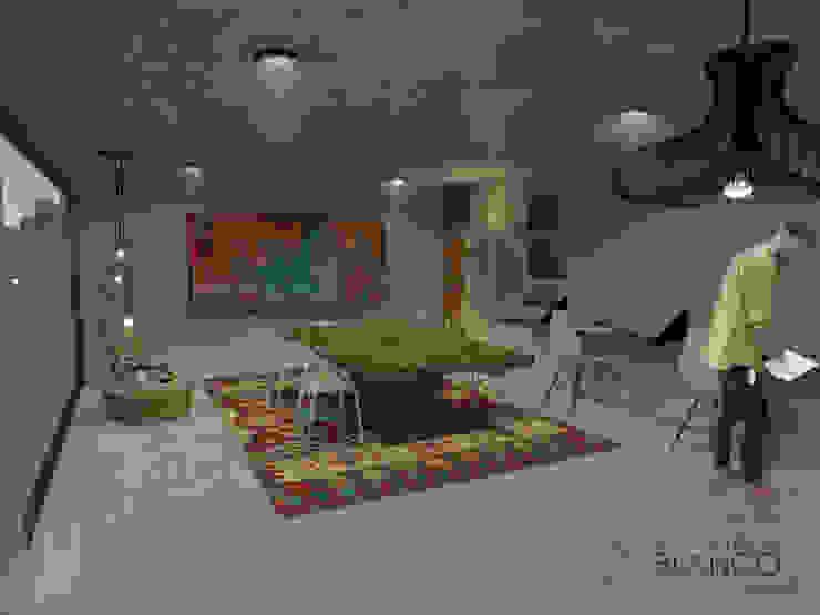 Vista interior Estudios y despachos modernos de Espacio en Blanco Moderno