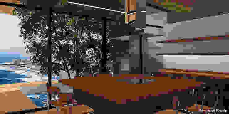 Cocina abierta con comedor de diario Cocinas de estilo moderno de homify Moderno