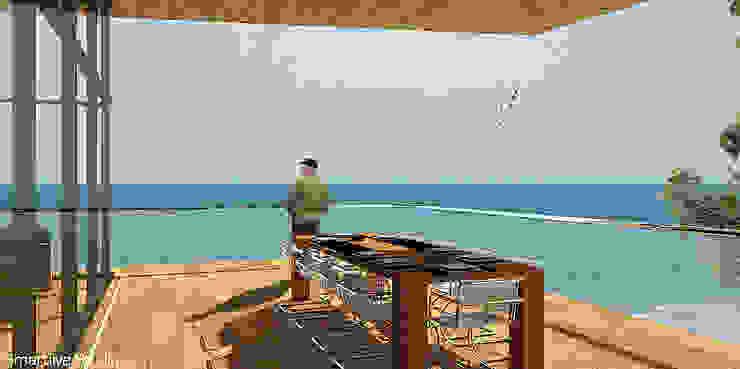 Terraza con vista al océano Balcones y terrazas modernos de homify Moderno