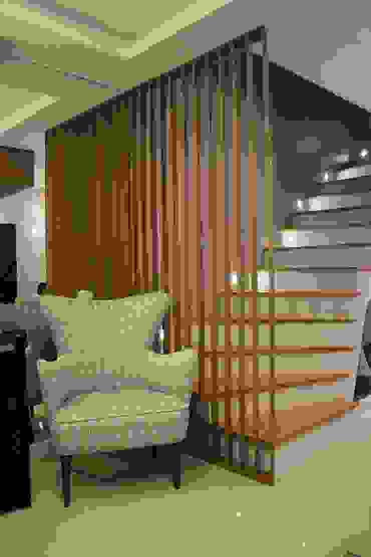 Área social Residência Danielle Barbosa DECOR DESIGN Corredores, halls e escadas modernos