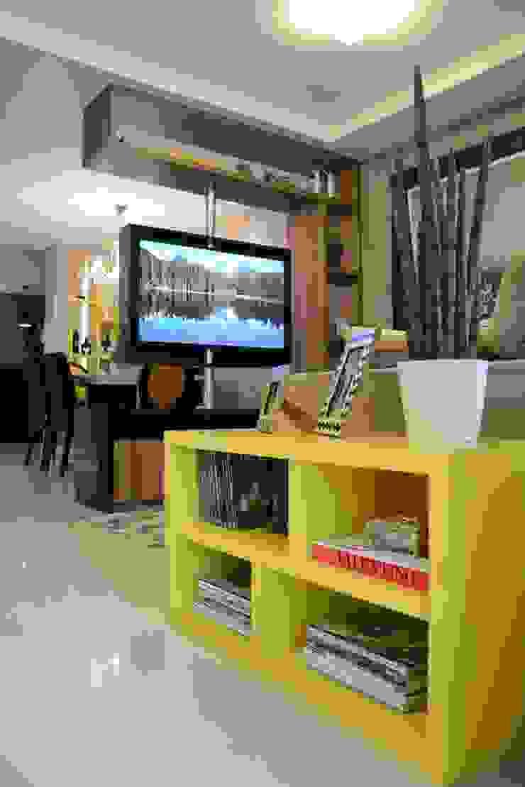 Área social Residência Danielle Barbosa DECOR DESIGN Salas de estar modernas