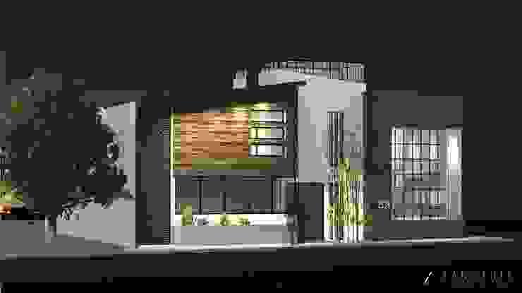 Fachada Principal Casas modernas de TANGENTE ARQUITECTURA Y CONSTRUCCIÓN Moderno Concreto