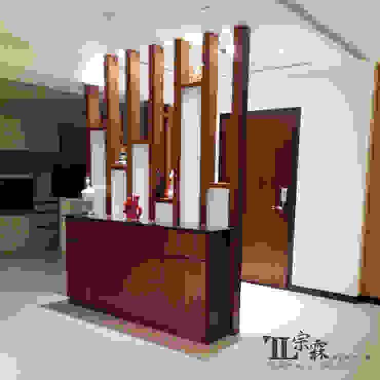 玄關端景櫃 隨意取材風玄關、階梯與走廊 根據 宗霖建築設計工程 隨意取材風