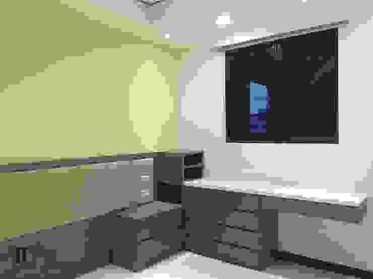 次臥室床頭&床邊櫃 根據 宗霖建築設計工程 隨意取材風