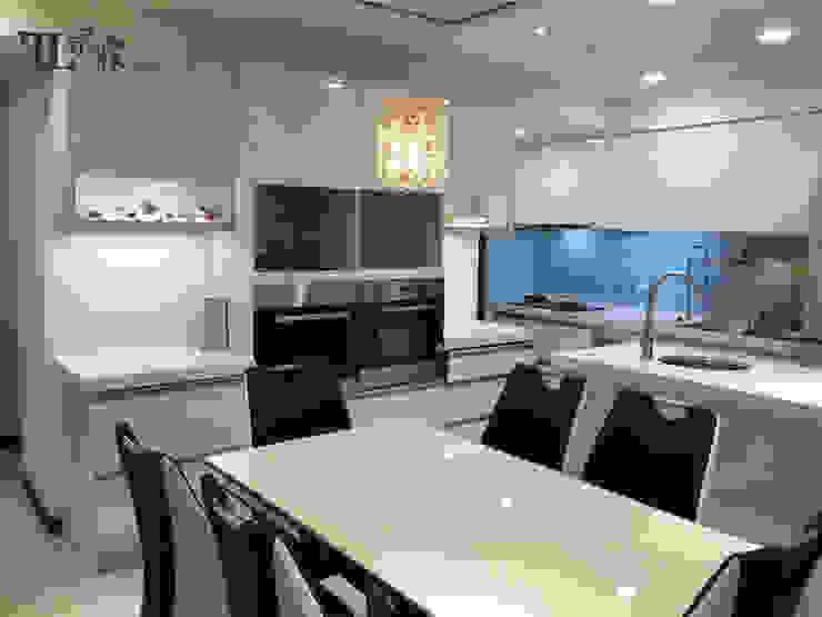 通透性廚房&餐廳 根據 宗霖建築設計工程 隨意取材風