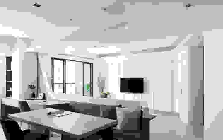 純粹獨白 现代客厅設計點子、靈感 & 圖片 根據 臣田設計 現代風