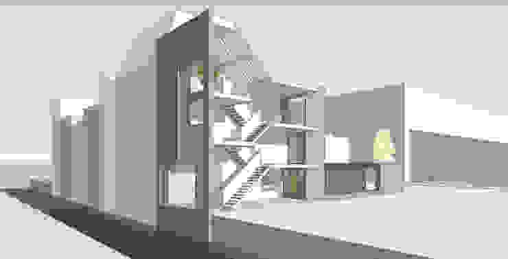 woonhuis O Veemarkt Utrecht Moderne gangen, hallen & trappenhuizen van atelier2architecten Modern