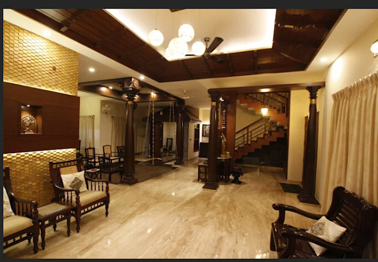 Srinivas house in Bangalore Classic style living room by montimers Classic