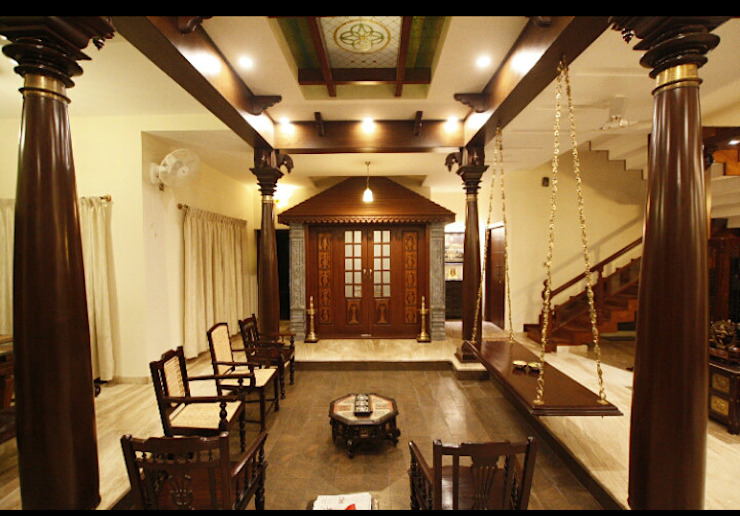 Srinivas house in Bangalore Classic style conservatory by montimers Classic
