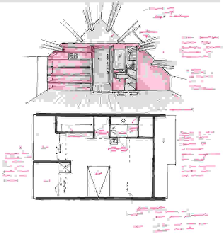 Plattegrond en impressie zolderruimte van Gaby Paulissen Architect