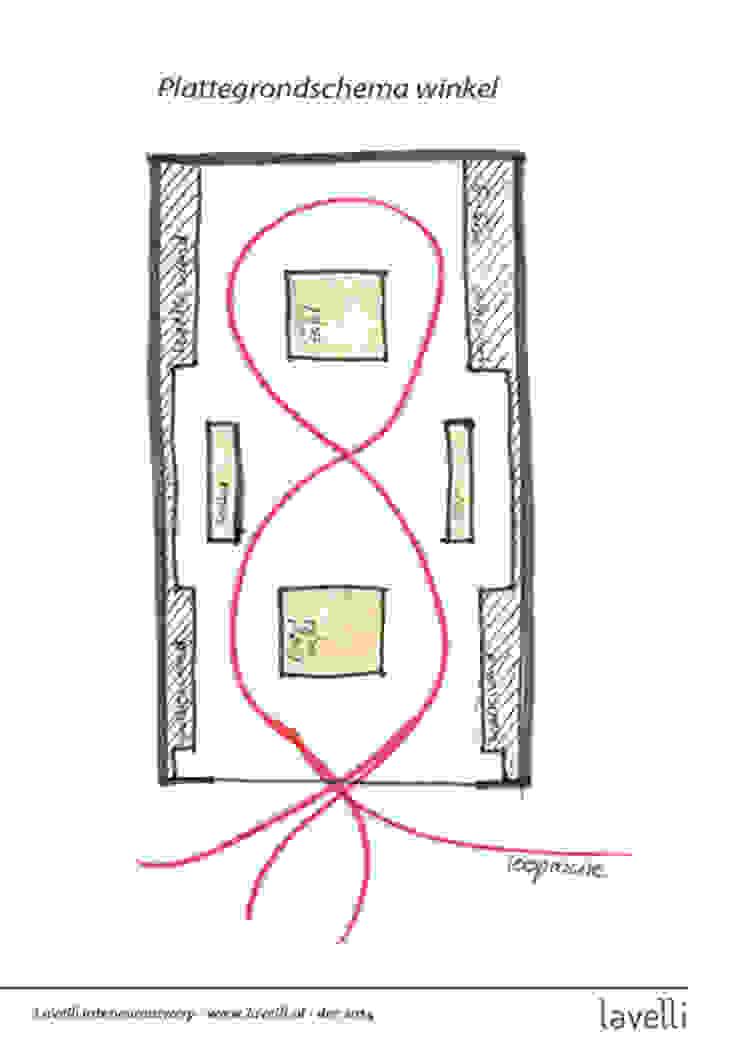 plattegrondschema : modern  door Lavelli interieurontwerp, Modern
