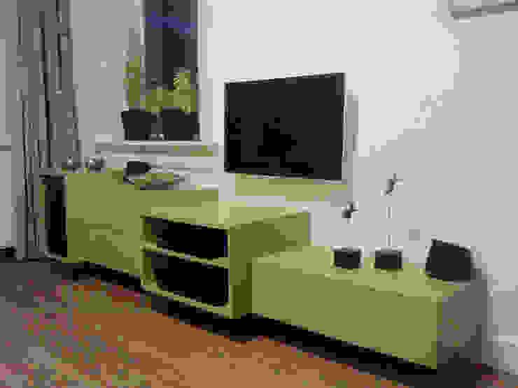 Hangend Tv Meubel Modern.Zwevend Tv Meubel By Lavelli Interieurontwerp Homify