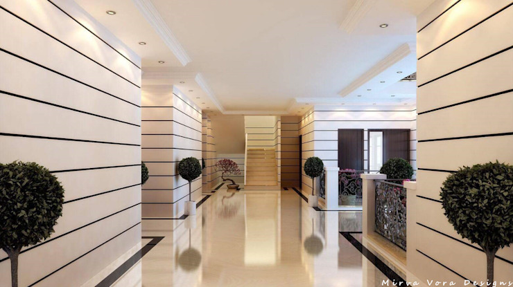 3D Designs By Mirva Vora Designs. Modern corridor, hallway & stairs by Mirva Vora Designs Modern