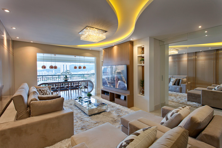 Salones de estilo moderno de Designer de Interiores e Paisagista Iara Kílaris Moderno