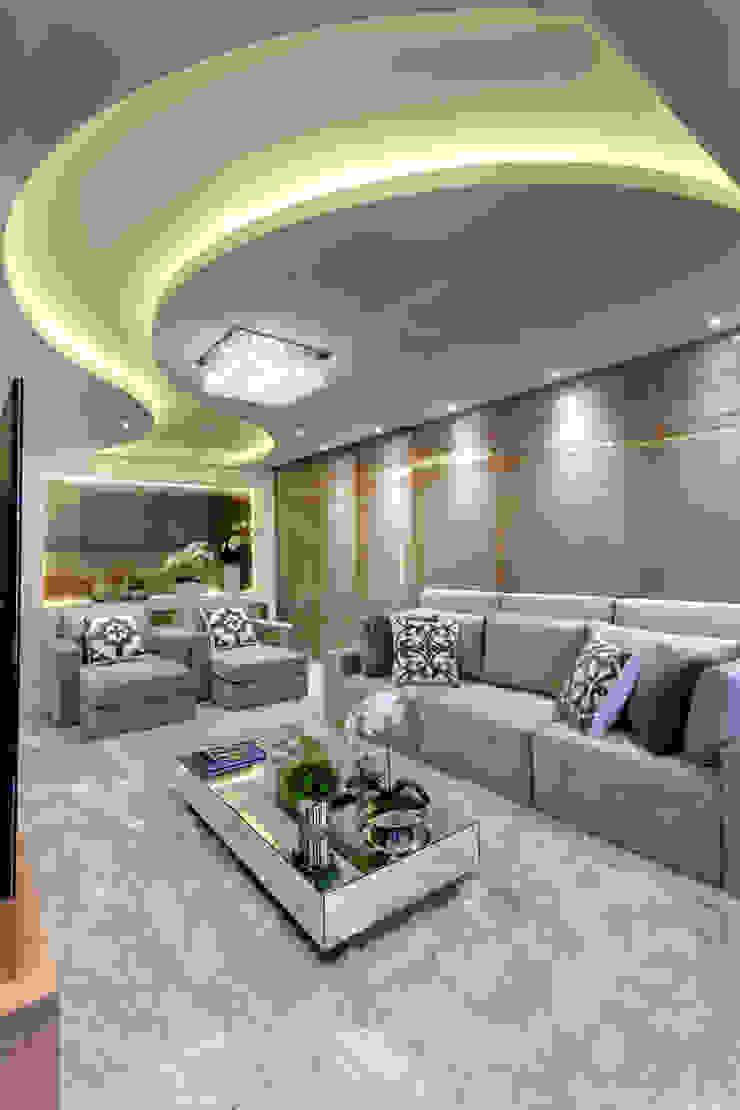 Apartamento Jundiaí Salas de estar modernas por Designer de Interiores e Paisagista Iara Kílaris Moderno