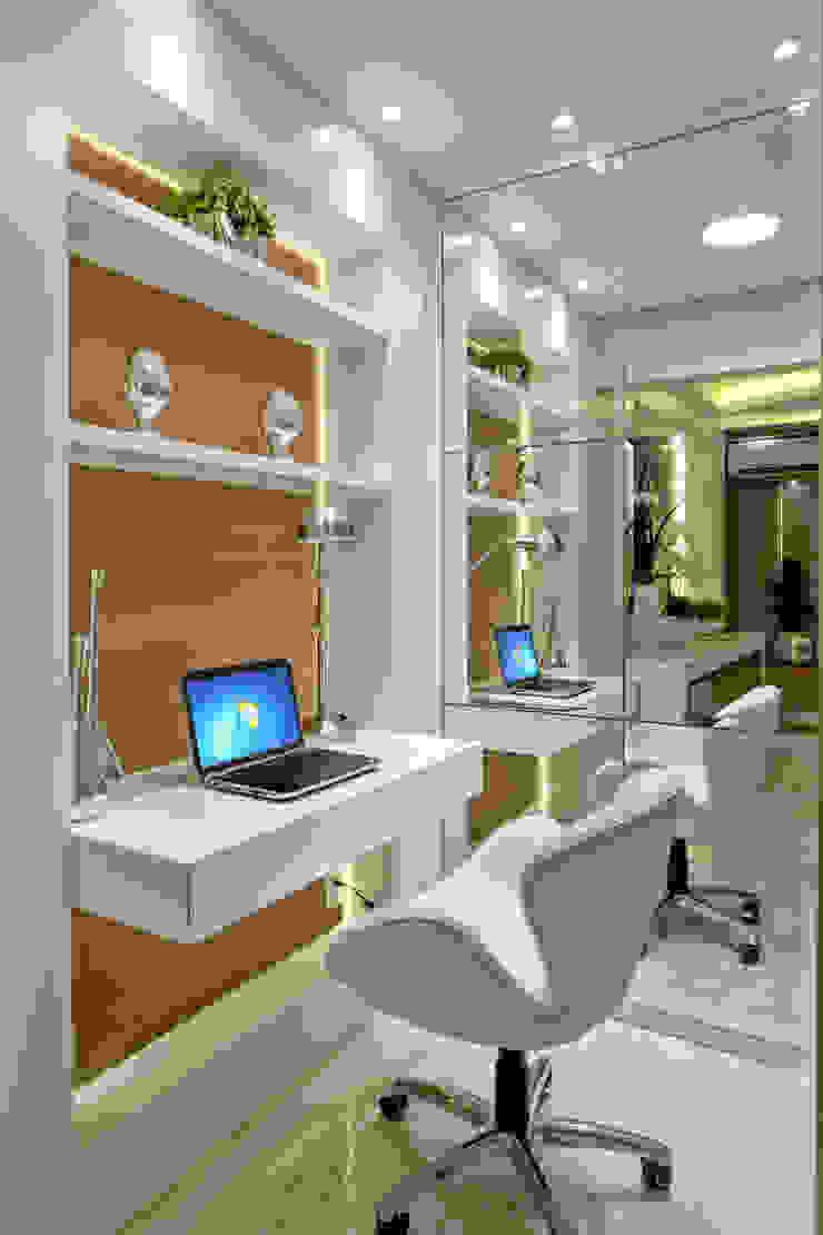 Apartamento Jundiaí Escritórios modernos por Designer de Interiores e Paisagista Iara Kílaris Moderno