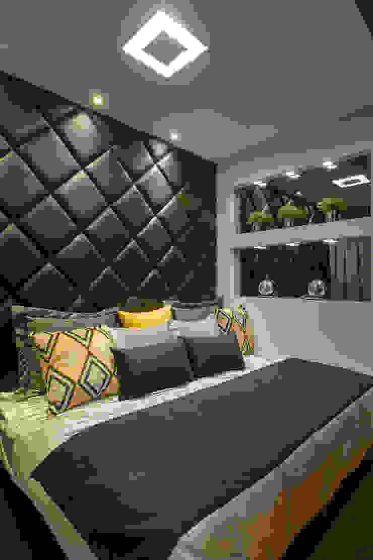 Apartamento Jundiaí Quartos modernos por Designer de Interiores e Paisagista Iara Kílaris Moderno