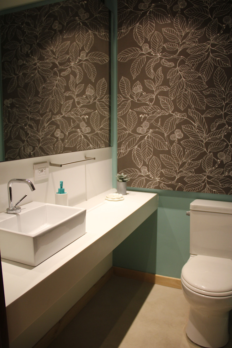 Baño Social Baños de estilo moderno de KDF Arquitectura Moderno