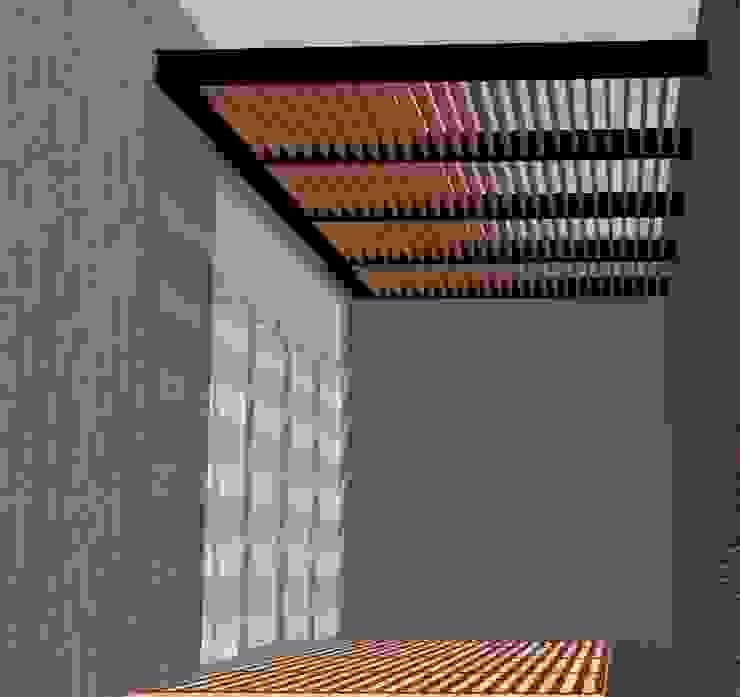 Proyecto pérgola Balcones y terrazas modernos de Síntesis Arquitectónica ® Moderno Madera Acabado en madera