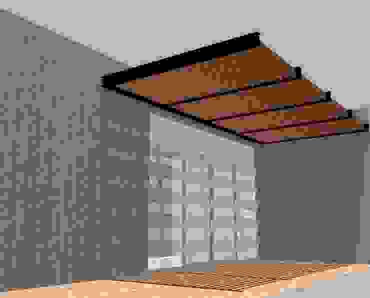 Proyecto pérgola Balcones y terrazas modernos de Síntesis Arquitectónica ® Moderno