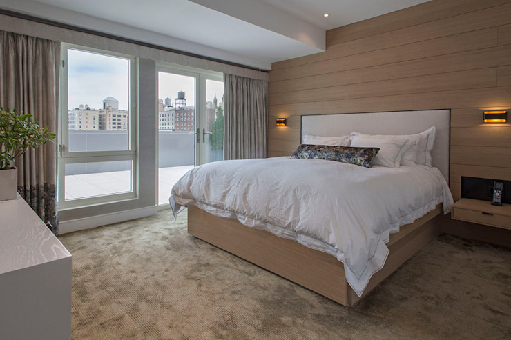 W 87th St Penthouse Modern Bedroom by Eisner Design Modern
