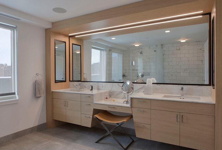 W 87th St Penthouse Modern Bathroom by Eisner Design Modern